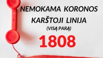 Pradeda veikti Koronos karštoji linija 1808