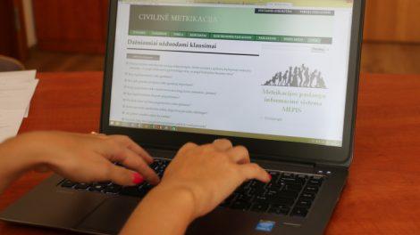 Civilinės būklės aktų registravimas karantino laikotarpiu vykdomas nuotoliniu būdu