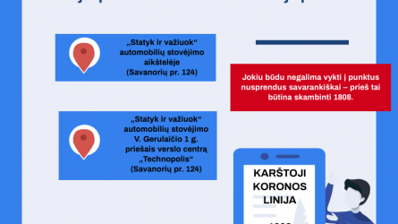 Vilniuje jau šiandien pradės veikti du mobilieji punktai