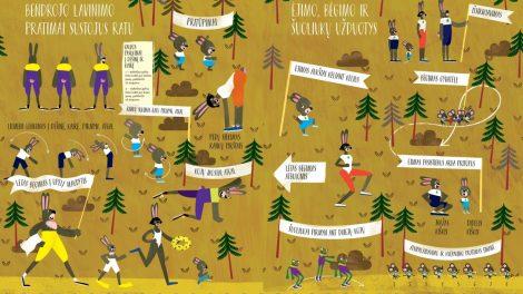 """Mažiesiems – knyga """"Miško olimpinės žaidynės"""""""