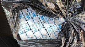 Radinys panevėžiečio automobilyje – 1200 pakelių kontrabandinių cigarečių