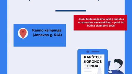 Kauno mobiliajame punkte – antra patikros linija
