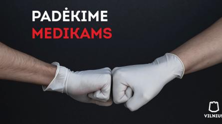 Vilnius kviečia verslo įmones: padėkite aprūpinti medikus apsaugos priemonėmis