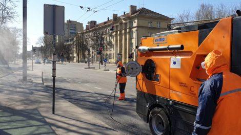 """Vilniaus """"Grinda"""" dezinfekuoja sostinės viešąsias erdves"""