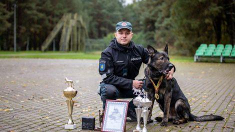 Dingusį senolį Visagine surado tarnybinis šuo Rokis