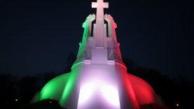 Vilnius nušvito Italijos vėliavos spalvomis