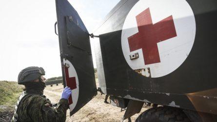 Izoliuotus koronavirusu susirgusius NATO bataliono karius gydys karo medikai