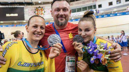 Olimpinių žaidynių nukėlimas treko dviratininkių tikslo nepakeitė