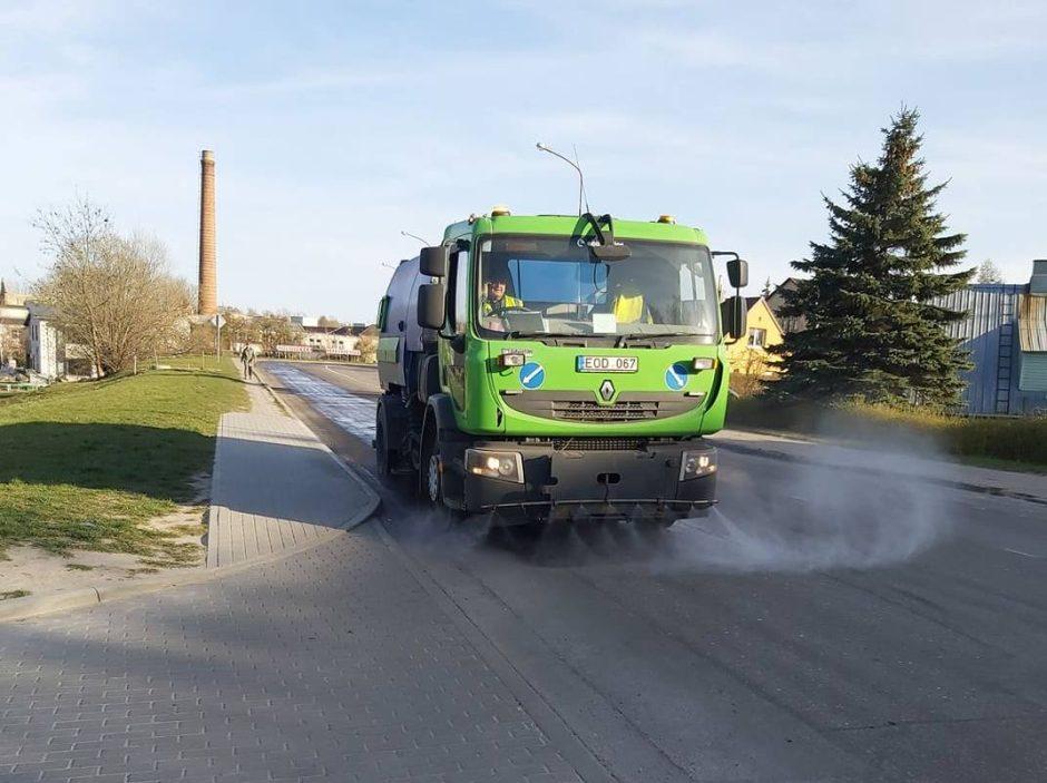 Miesto gatvių plovimas
