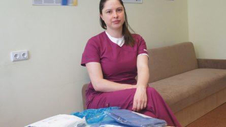 Coronavirusu infekuotųjų palatoje dirbančiai gydytojai – dažno ligonio padėka