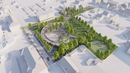 Dar kartą pasitarkime: teritorijos tarp Giedraičių ir Kintų gatvių sutvarkymo projektiniai pasiūlymai