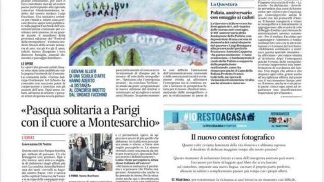 """Viename skaitomiausių Italijos laikraščių """"Il Mattino"""" – publikacija apie izoliuotoms italų šeimoms skirtus  jaunųjų Varėnos dailininkų piešinius"""