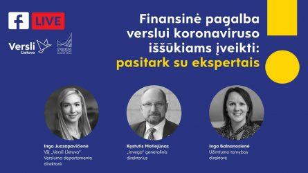 Tiesioginėje transliacijoje apie finansinę pagalbą verslui