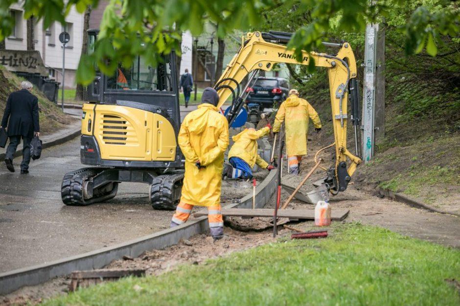 Vilnius ragina rangovus: karantinas – idealus metas darbams gatvėse ir prie jų
