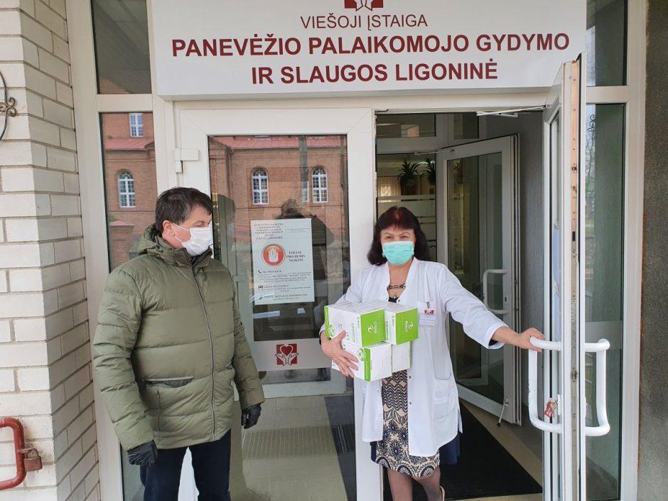 Papildomos apsaugos priemonės Panevėžio medikams