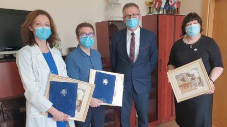 Ligoninės gydytojams – ministro pirmininko S. Skvernelio padėkos