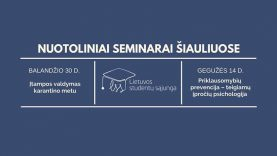 Studentams – nemokami psichologo seminarai