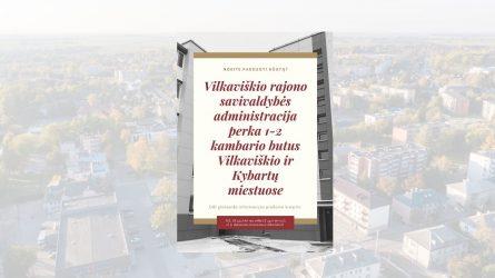 Skelbiamų derybų būdu perka Vilkaviškio ir Kybartų miestuose 7 butus