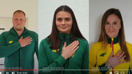 LTeam sportininkai skatina sveikintis saugiai – glaudžiant ranką prie širdies