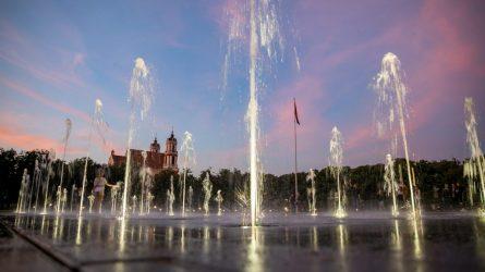 Vilniaus fontanuose – modernios dezinfekcinės sistemos