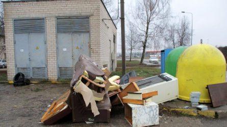 Stambiagabaritėms ir biologiškai skaidžioms atliekoms vieta – specialiose aikštelėse