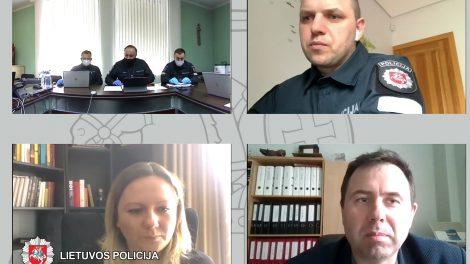 Lietuvos policijos nuotolinė konferencija su žemdirbių savivaldos atstovais