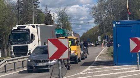 Atidarytas prie sienos su Latvija esantis Kalvių-Meitenės pasienio kontrolės punktas veikia sklandžiai