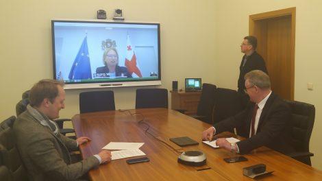 Lietuvos ir Sakartvelo ministrai aptarė galimybes atnaujinti tarptautinį susisiekimą