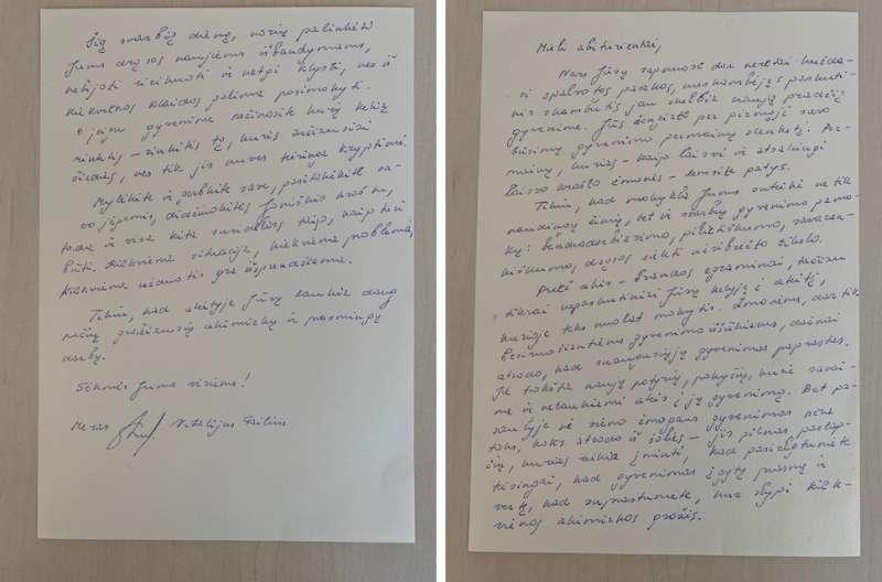 Joniškio rajono savivaldybės mero Vitalijaus Gailiaus laiškas abiturientams