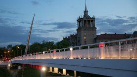 Atkurtai Sakartvelo Nepriklausomybei – 102-eji: šventiškai apšviesti Vilniaus tiltai