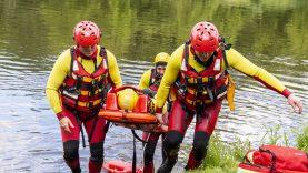 Spaudos konferencijoje – inscenizuota gelbėjimo operacija