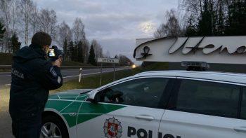 Utenos policijos pareigūnai ne tarnybos metu sulaikė neblaivų vairuotoją
