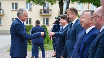 Šiaulių meras susitiko su Prezidentu