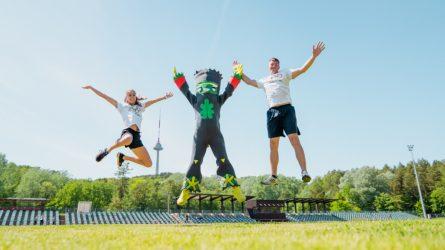 Ąžuolo kvietimą bėgti lietuvišką olimpinę mylią priėmė ir LTeam sportininkai