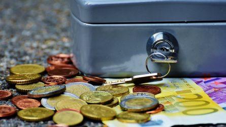 Sausio – gegužės mėnesių valstybės ir savivaldybių biudžetų pajamos mažesnės nei planuotos
