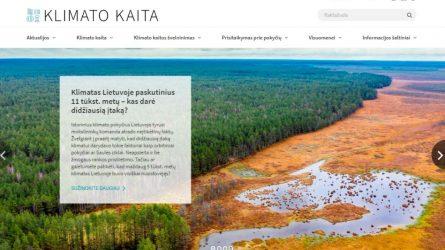 Visuomenei – naujas portalas apie klimato kaitą