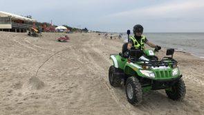 Klaipėdos bendruomenės pareigūnai aktyvina prevencinę veiklą uostamiesčio paplūdimiuose