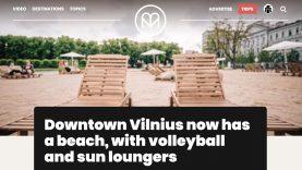 Apie Vilniuje įrengtą paplūdimį prakalbo ir užsienio žiniasklaida