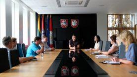 Savivaldybės vadovai susitiko su miesto aplinką tvarkančių įmonių atstovais
