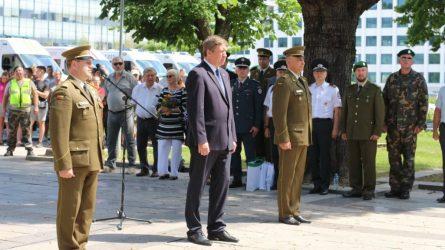"""Krašto apsaugos ministras R. Karoblis: """"Patrotizmas yra ne jausmas, o veiksmas, ir šauliai yra vienas gražiausių patriotizmo išraiškos pavyzdžių"""""""