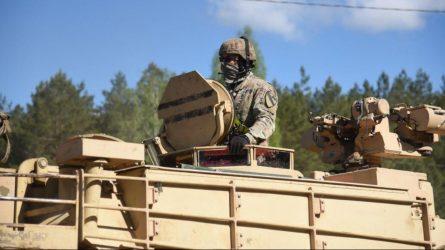 Pabradėje - Junginių Amerikos Valstijų karių rotacijos Lietuvoje baigimo ceremonija