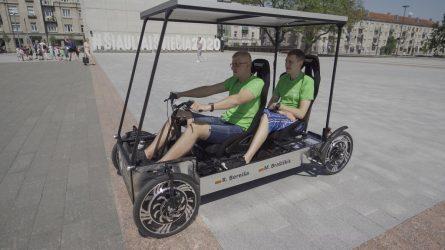 Studentų rankomis – robotas ir transporto priemonės