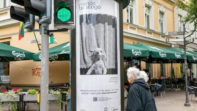 Vilniaus centras virto didele meno galerija po atviru dangumi