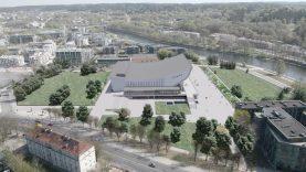 Vilnius patvirtino Koncertų ir sporto rūmų aplinkos tvarkymo darbus