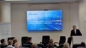 """Savivaldybių, kurias kirs """"Rail Baltica"""", merams pristatytas naujas projekto etapas bei naudos"""