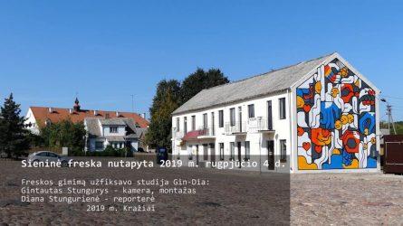 Kražių pano - Sieninė freska nutapyta 2019 m. rugpjūčio 4 d.