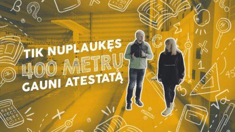 """""""Tik nuplaukęs 400 metrų gauni atestatą"""", – P. Viktoravičius"""