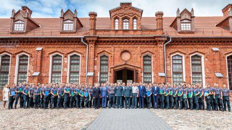 Lietuvos policijos mokyklos baigimo pažymėjimų įteikimo šventė Raudondvaryje