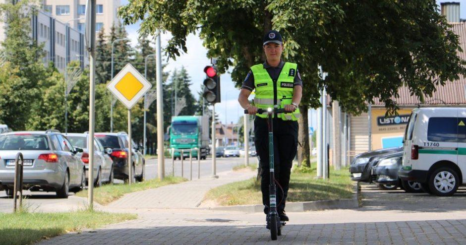 Sustiprinama elektrinių paspirtukų ir motorinių dviračių kontrolė