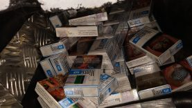 Per dvi dienas sulaikyti du vyrai su daugiau nei 12 000 kontrabandinių cigarečių pakelių (video)